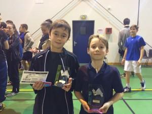 Julien Le Manach (USB) et Yanis Lemaire Champions de Gironde 2016
